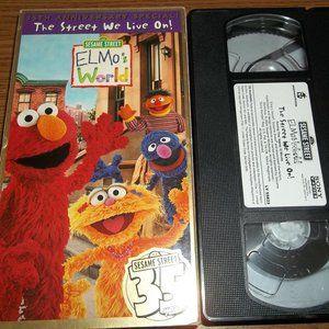 SESAME STREET -  ELMO THE STREET WE LIVE ON VHS